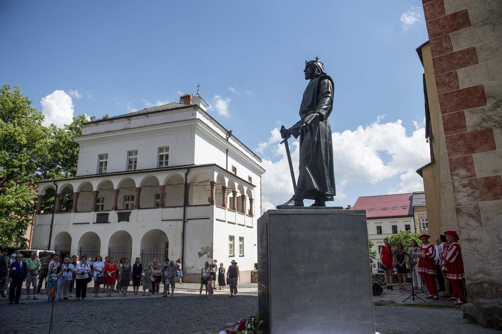 Besztercebánya IV.Béla szobor
