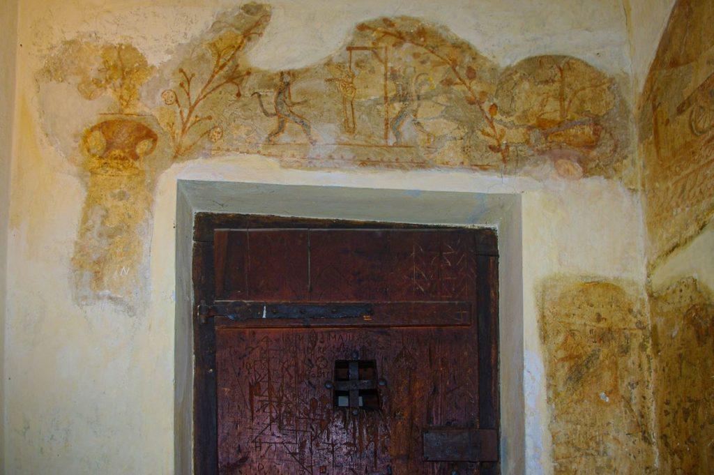 A dunaföldvári tömlöc egyik freskója