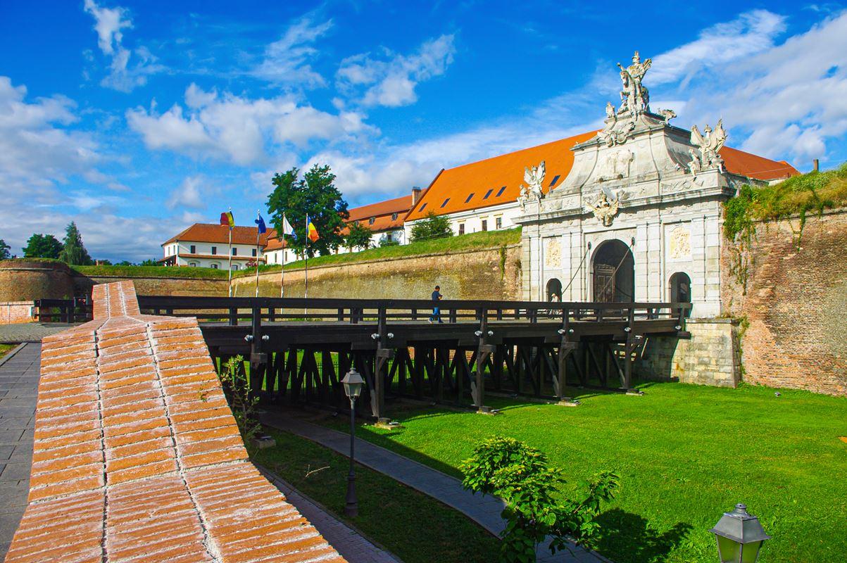 A kaput fedező védmű Gyulafehérváron