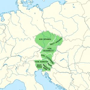 II. Ottokár birtokában lévő területek
