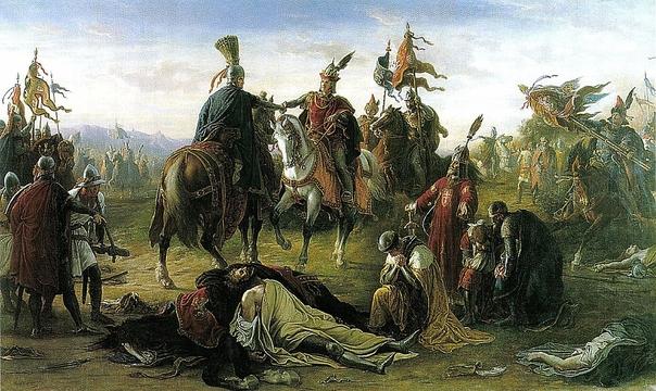 Than Mór: Rudolf és Kun László találkozása a csatatéren (Wikipédia)