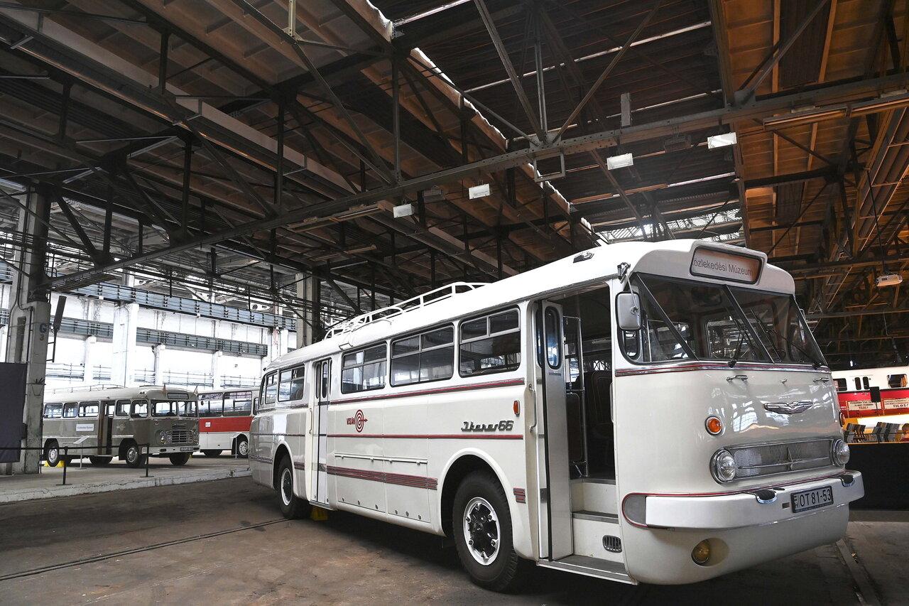 Bemutatták a restaurált Ikarus 66-os autóbuszt