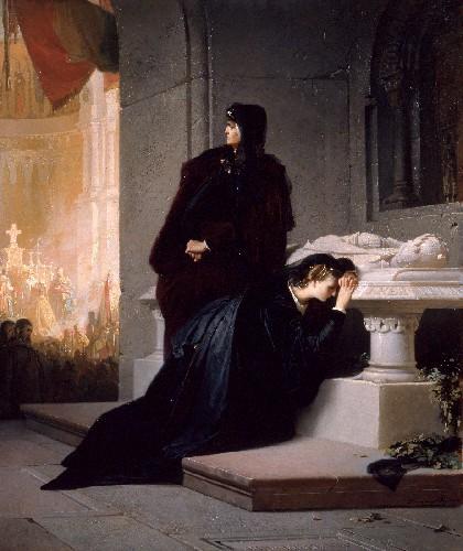 Liezen-Mayer Sándor Erzsébet és Mária Nagy Lajos sírjánál (Wikipédia)