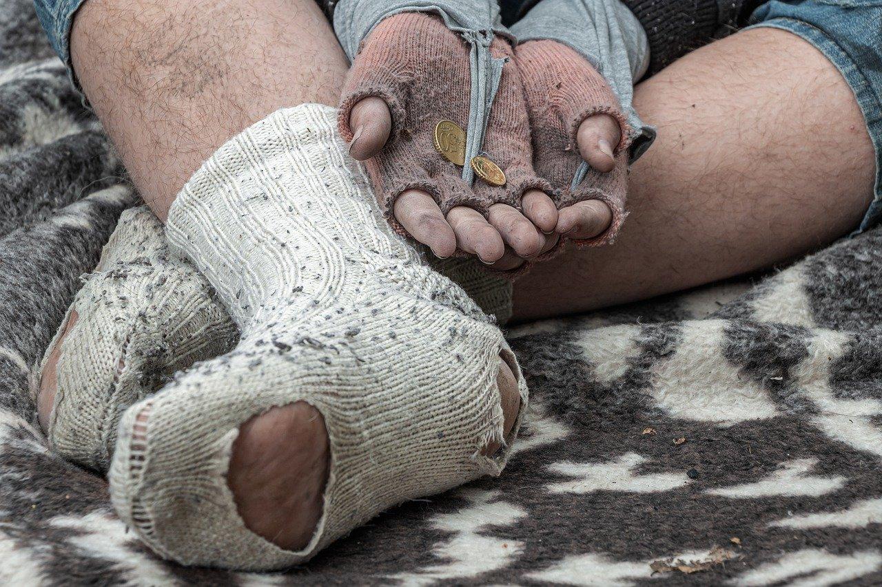 szegény hajléktalan